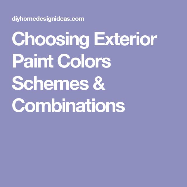 Diy Home Design Ideas Com: Choosing Exterior Paint Colors Schemes & Combinations