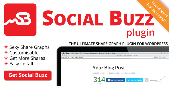 Social Buzz WordPress Plugin - Social Share Graphs | Best