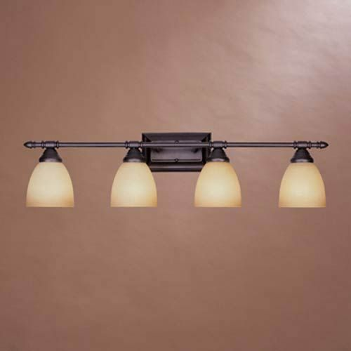 Photo of Designer fountain 94004-ORB Apollo four-light bathroom fitting made of oil-rubbed bronze, Early American | Bellacor