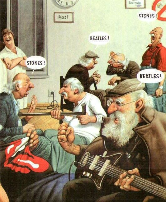 The Beatles Vs The Rolling Stones Led Zeppelin Funny Pictures