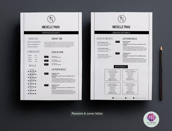 Modern 2 Page Resume Template Creative Resume Templates Resume Template Resume Templates