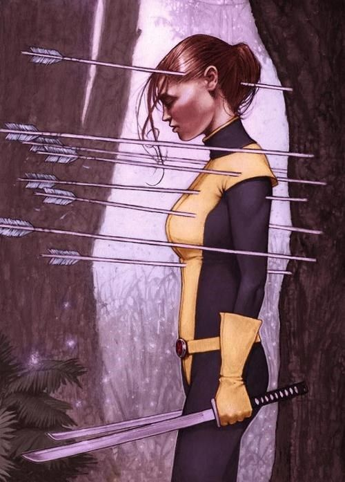 All I can think of is a Shadowcat, Katniss hodgepodge of amazingness.