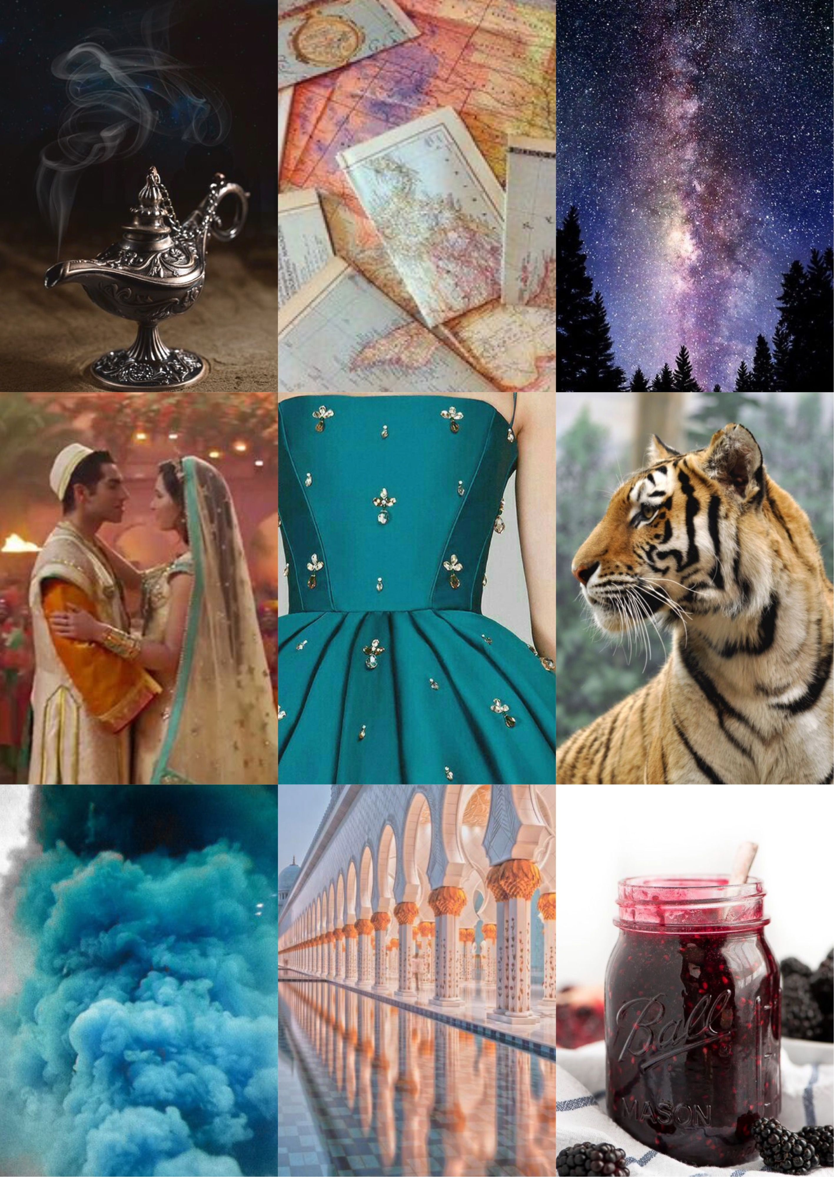 Aladdin Live Action 2019 aesthetics inspiration mood board