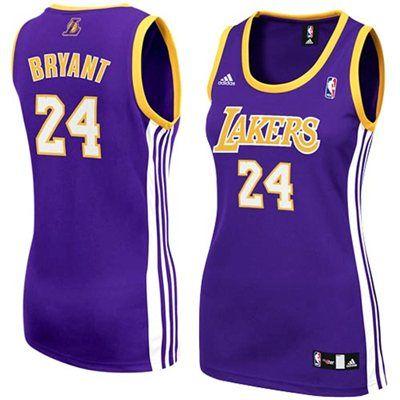 Adidas Kobe Bryant Los Angeles Lakers Women S Fashion Jersey Purple Womens Jersey Los Angeles Lakers Kobe Bryant