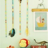 We spotted vintage arrows as a trend last year, and they seem to be holding strong. Though these arrows would look amazing as wall art in a child's room, a cluster of them in a vase would be very summer camp chic! This fun tutorial from the Thompson Family will have you churning out fun vintage inspired arrows with a crafty vibe.
