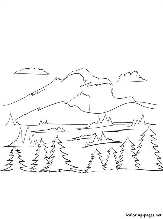 Mountain coloring page | Coloring pages | Coloring Pages 6 ...