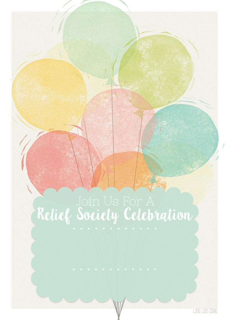 Relief Society} Birthday Celebration Invitation  Relief society