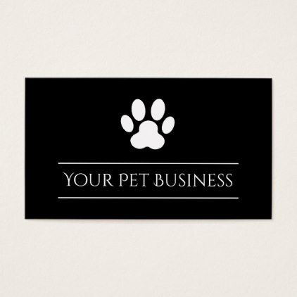 Black and white pet paw print business card pinterest black and white pet paw print business card black and white gifts unique special bw reheart Gallery
