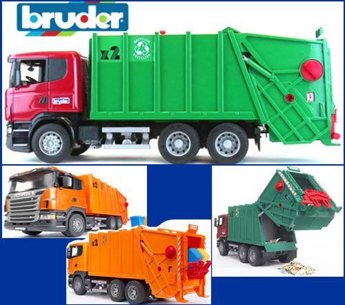 scania r series garbage truck redgreen or full orange color