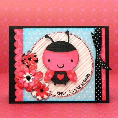 Adorable LadyBug Cricut Card