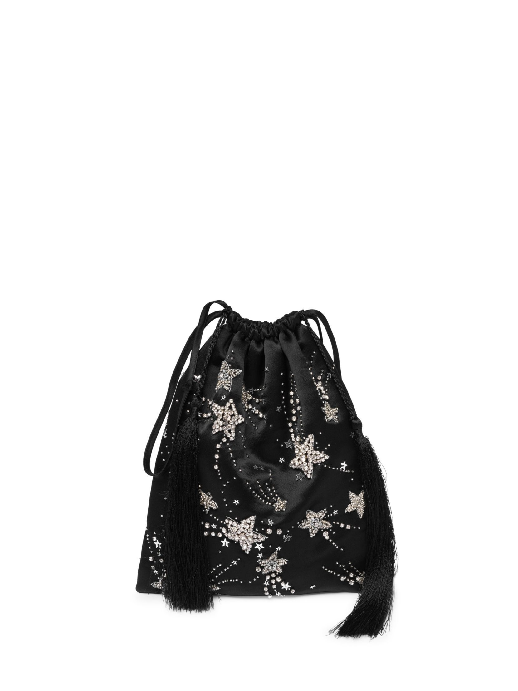 c64f2475786c Attico Sequin Star Satin Pouch Bag