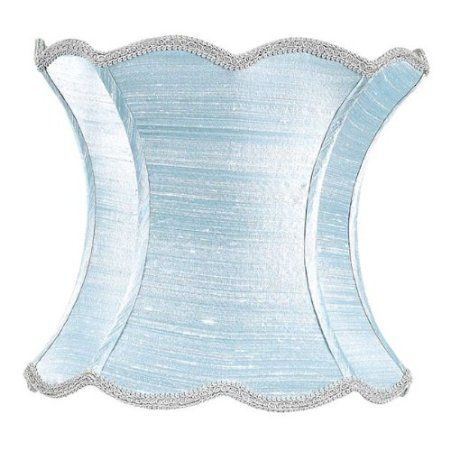 Amazon extra large scallop hourglass lamp shade in ice blue amazon extra large scallop hourglass lamp shade in ice blue home improvement if ever our bedroom goes cindy blue aloadofball Choice Image
