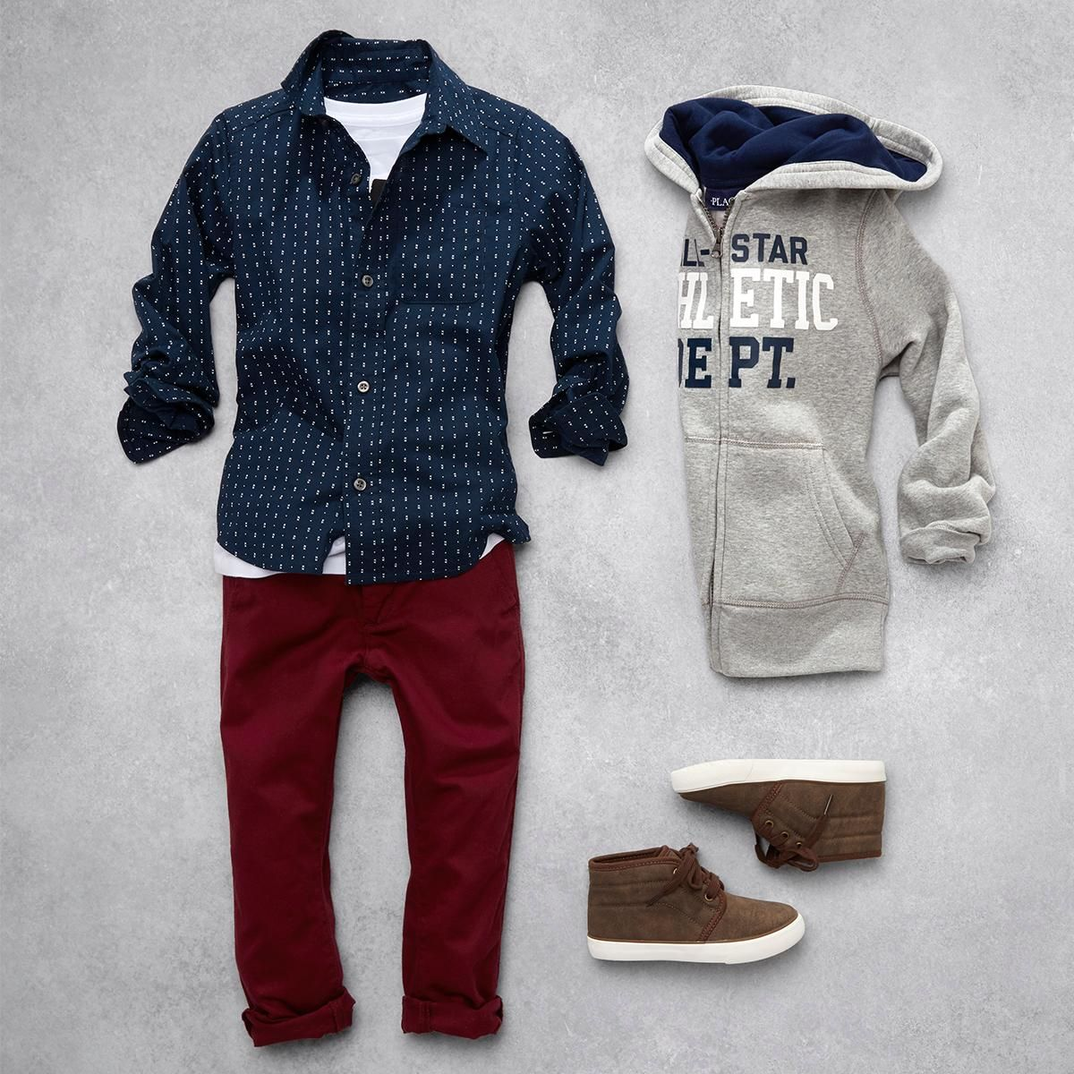 Boys Fashion Kids Clothes Button Down Shirt Full Zip Hoodie