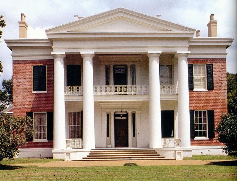 c 1845 Greek Revival in Natchez Mississippi