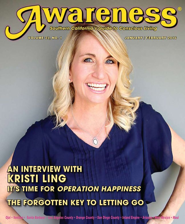 Awareness Magazine January/ February issue with Kristi Ling.