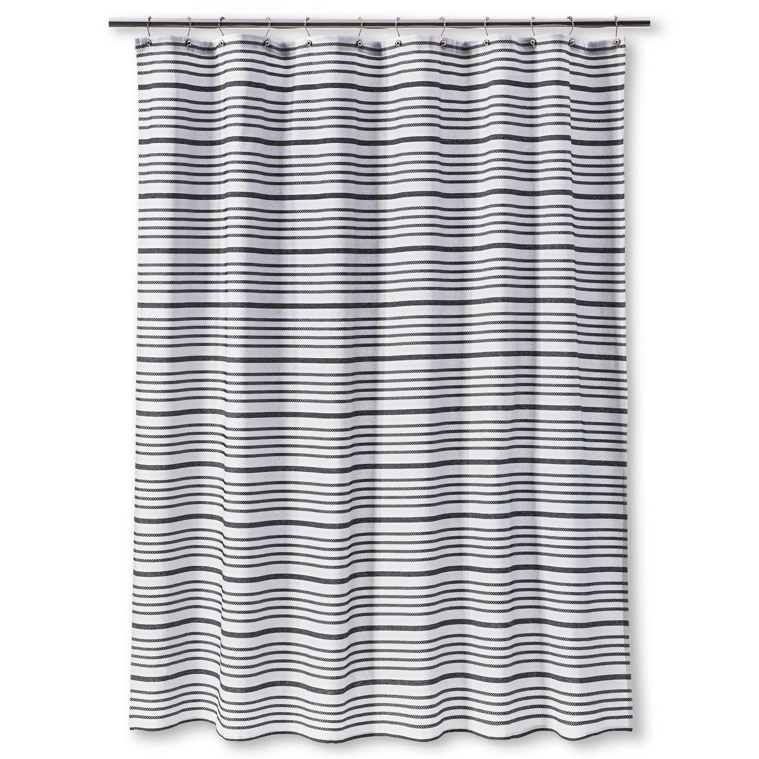 Multi Stripe Shower Curtain Black Threshold Striped Shower