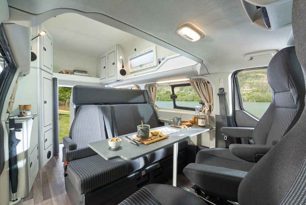 Westfalia Squeezes A Private Toilet Into Its Latest Ford Transit Camper Van Transit Camper Ford Transit Ford Transit Camper