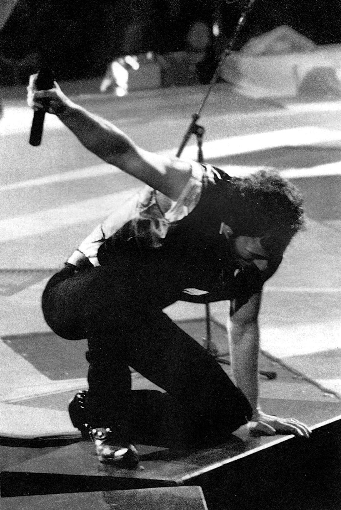 Bruce pourin' it all out on stage... Bruce springsteen