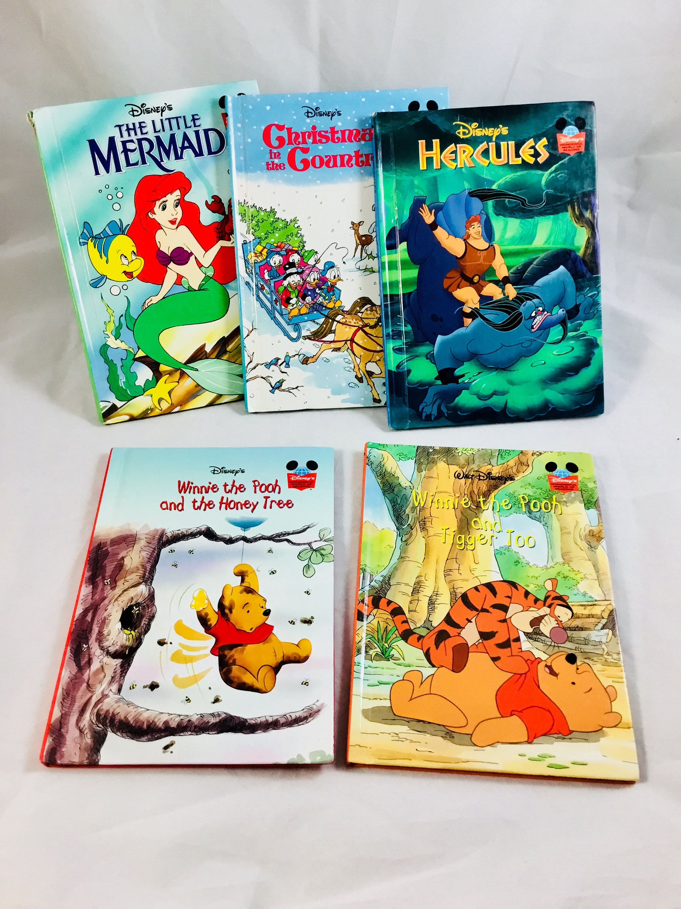 5 Walt Disney S Wonderful World Of Reading Books Lot