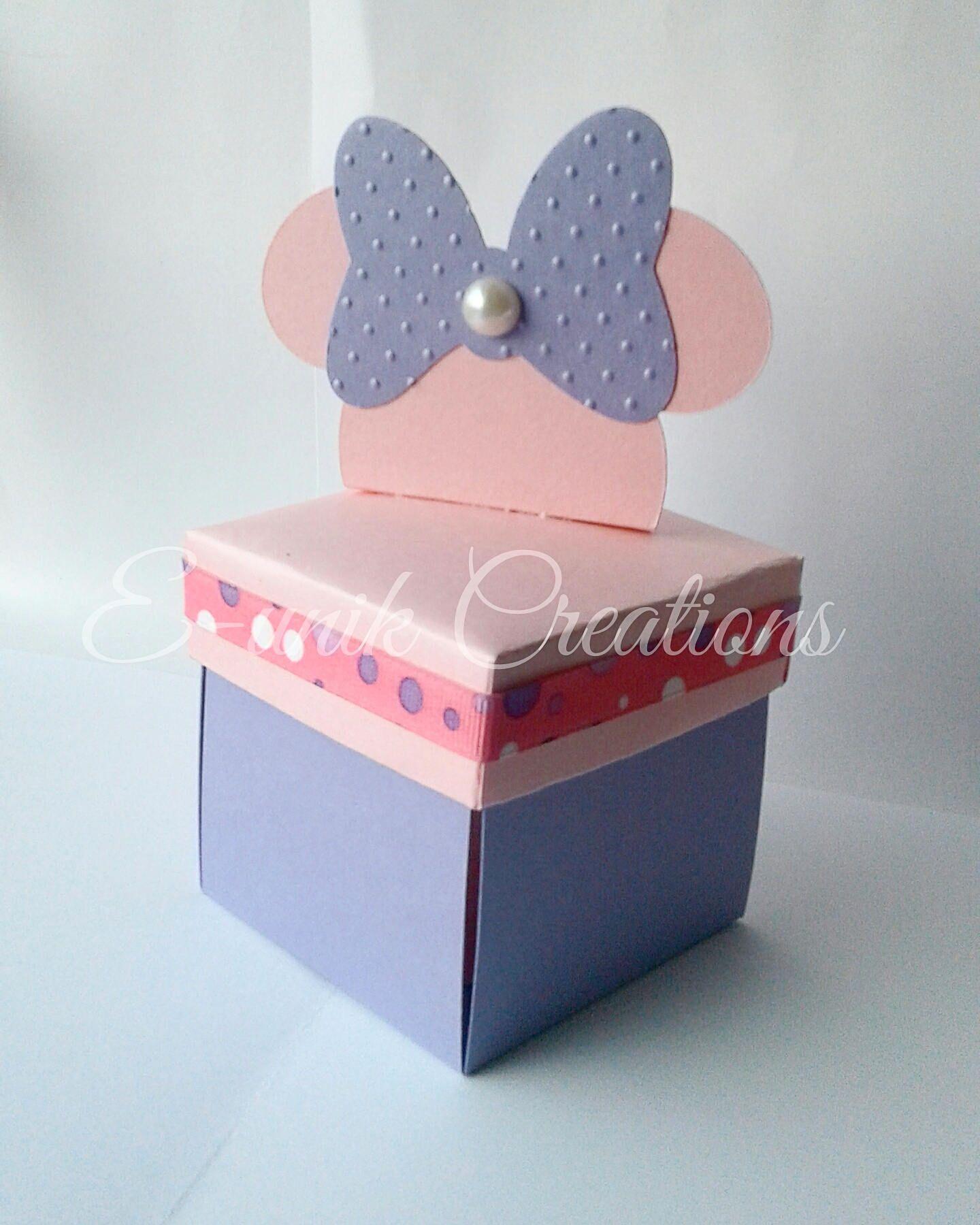 Minnie Mouse Box Invitation Explosion Box Invitations Mini Box