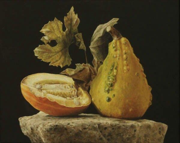 Autumn - Rafael de la Rica - 46x35 cm - Oil in Wood