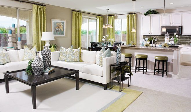 Richmond american model home furniture