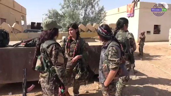 YPG-led SDF fighters continue their advance towards Raqqa