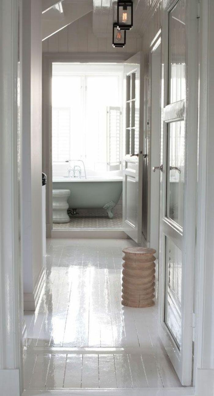 Le parquet blanc - une jolie tendance déco - Archzine.fr | Parquet ...