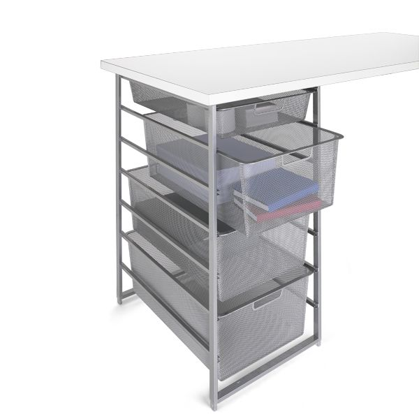 Platinum Elfa Mesh Desk Drawers The Container Store Desk With Drawers Cabinets For Sale Custom Desk