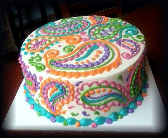 Paisley Cake Candies Cakes Pinterest Paisley cake Cake