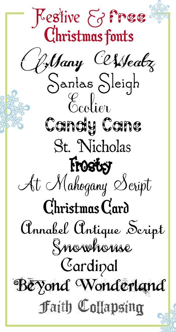 Festive and Free Christmas Fonts! | Schrift, Schriftarten und ...