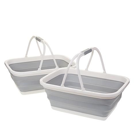 Shop StoreSmith Set of 2 Collapsible Baskets 9351480, read customer reviews and more at HSN.com.