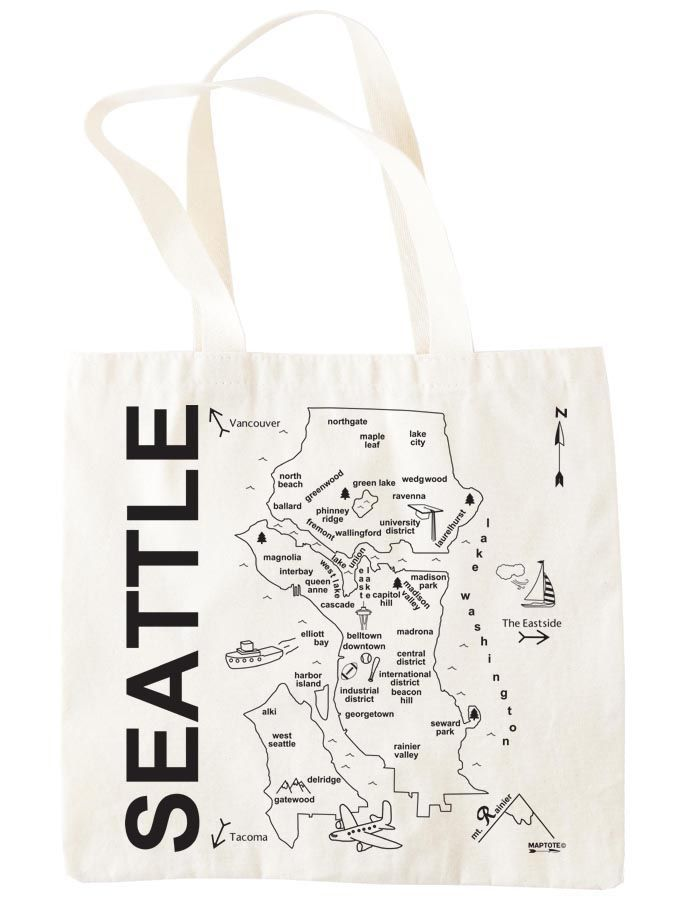 hand drawn seattle map Seattle Map Pinterest Seattle map and