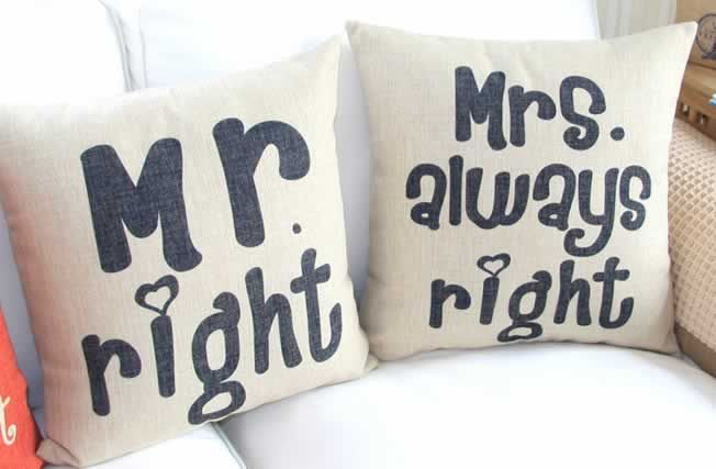 Oh, how adorable!  Makes the perfect unique wedding gift.  http://www.uniikstuff.com/sofa-pillow-covers/17-x-17/accent-pillow-cover-wedding-set-2