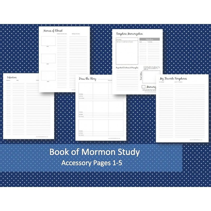 Book of Mormon Study Accessory Pages 1 5 from