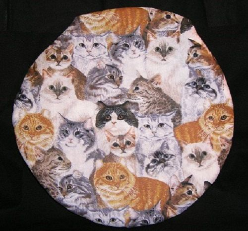 Microwave Potato Baker Bag Round Kitty Cats by Inthecc on Etsy, $9.00