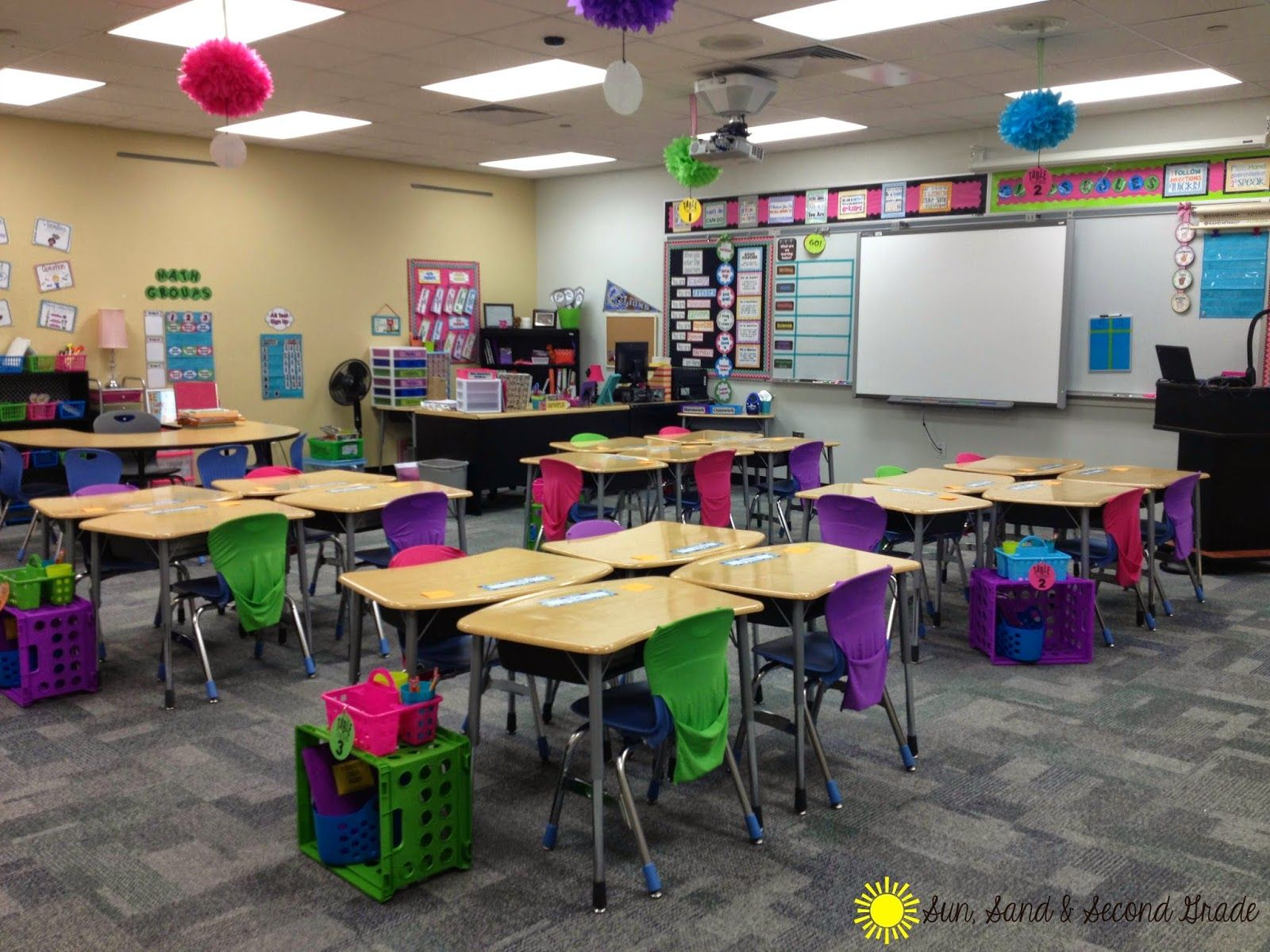 Classroom Decoration Cute : I love this cute and bright second grade classrooms