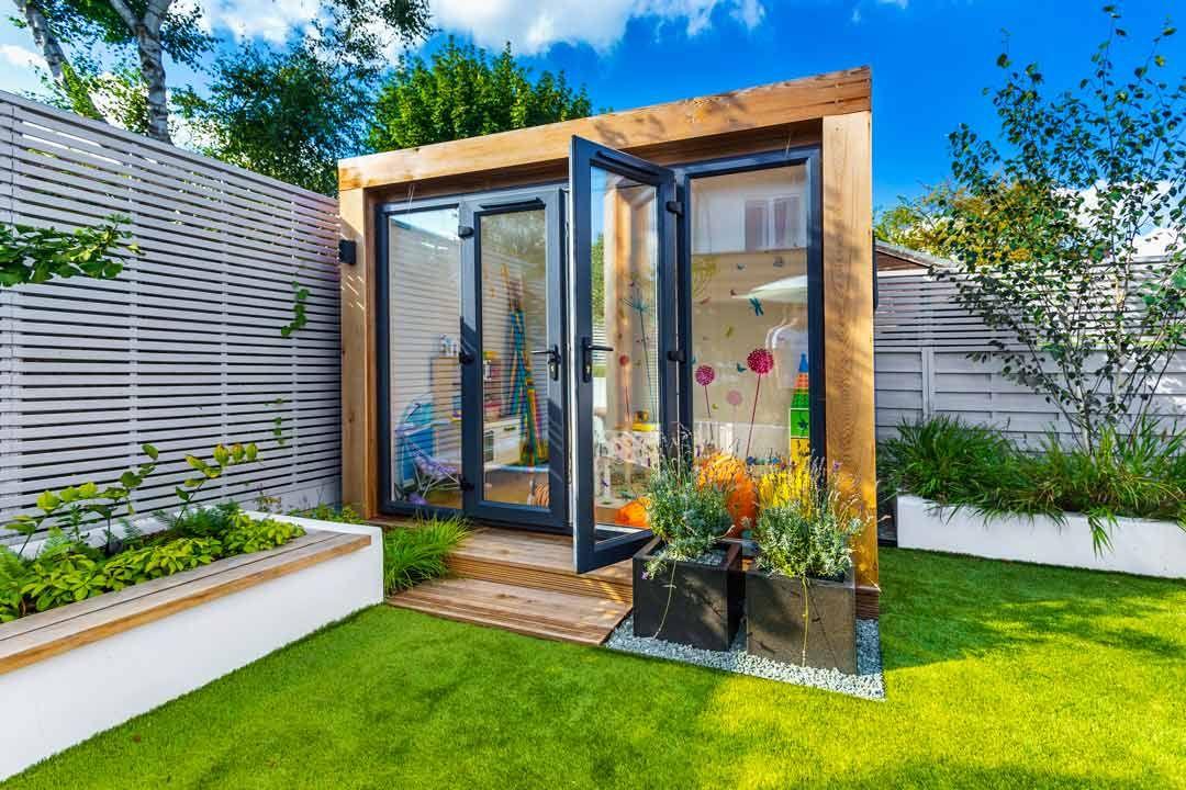 3m x inspiration garden room in cedar complete with for Garden room 7m x 5m