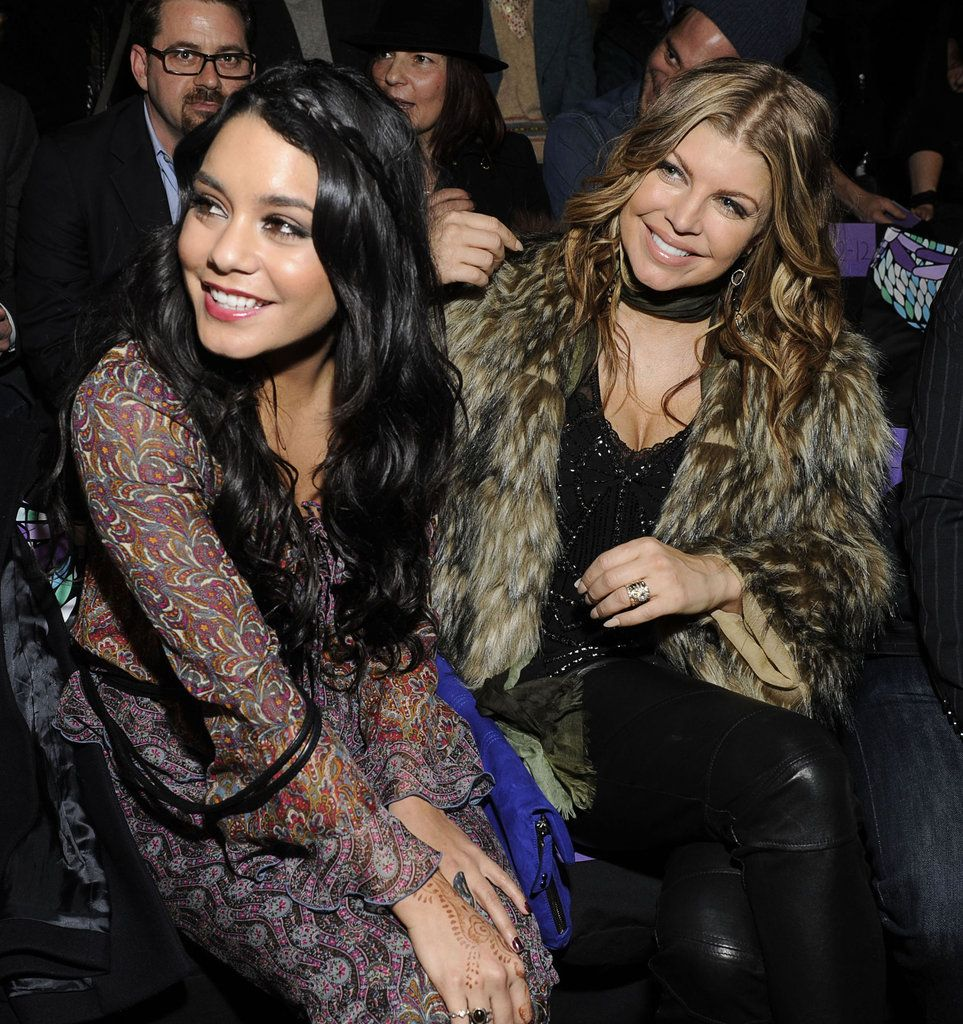 Celebrities at Fashion Week stunning looks Vanessa and fergie