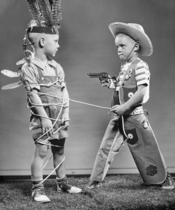 Image result for kids playing Cowboys and Indians in woods