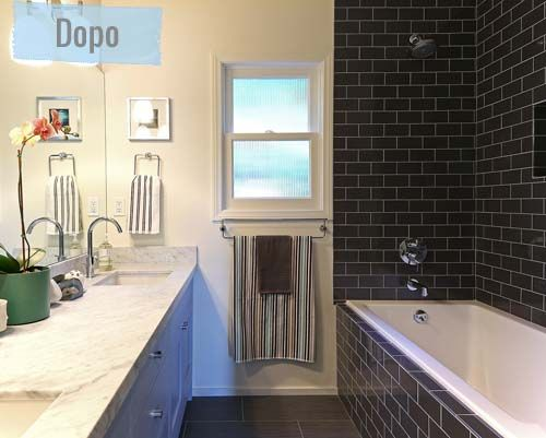 Bagni Piastrelle Nere : Prima e dopo a hollywood hills dopo bagno before and after
