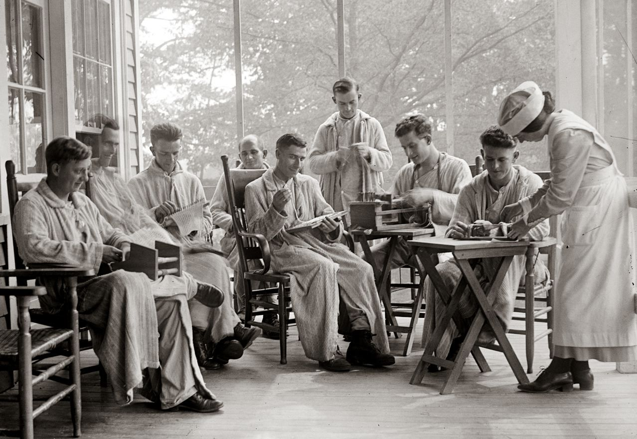WORLD WAR I Injured soldiers recuperate at Walter Reed