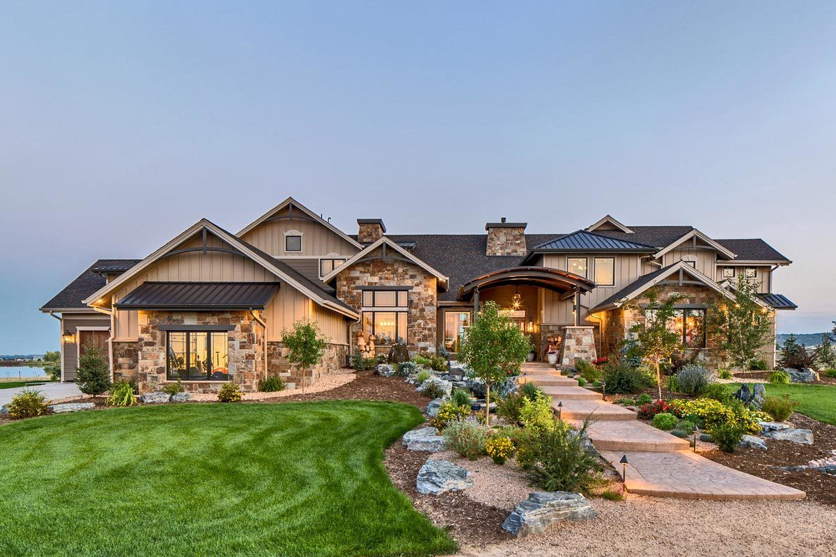 Plan 95063RW: 4-Bed Mountain Home Plan with First-Floor Master