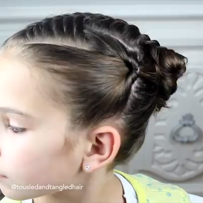 Metdaan - Double Triangle Bun | Facebook - Hair Beauty