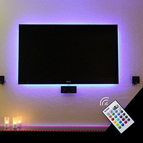 vansky led lichtleisten tv hintergrundbeleuchtung usb led lichtband fernbedienung led 90cm. Black Bedroom Furniture Sets. Home Design Ideas