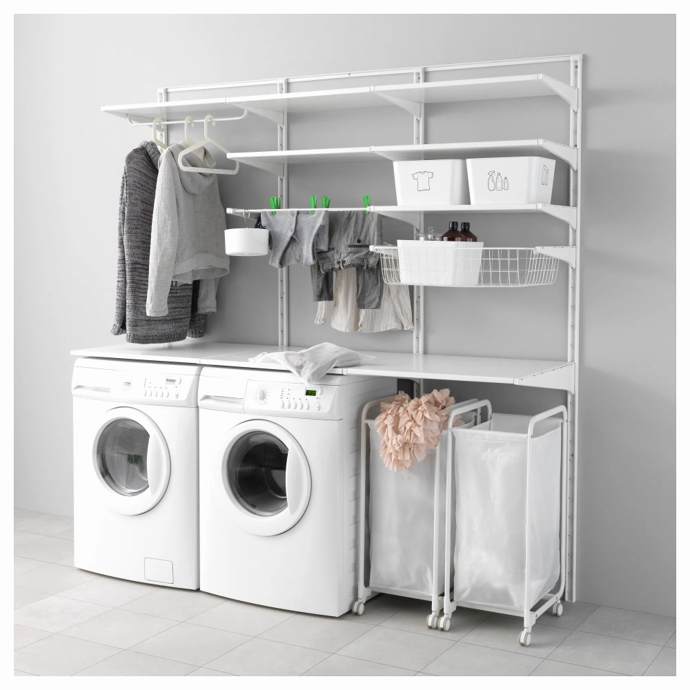 Meuble Buanderie Ikea Rangement Cellier In 2020 Ikea Laundry Room Ikea Closet System Closet Small Bedroom