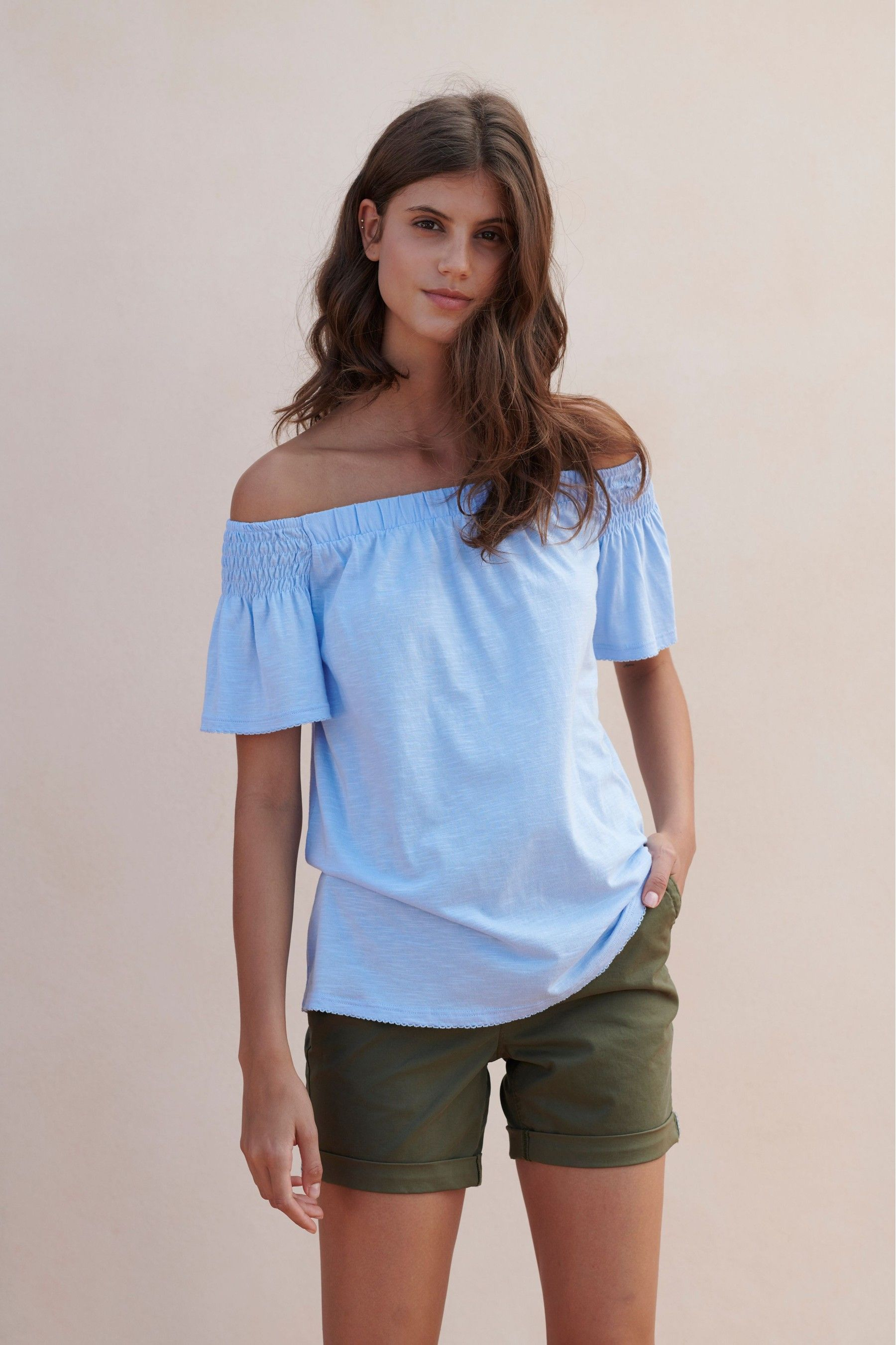 b590b2149fedc Buy Blue Bardot Top from the Next UK online shop