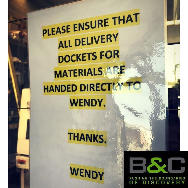 It is important that delivery dockets are collected and given to - delivery docket