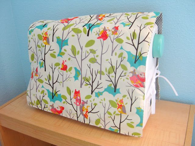 reversible sewing machine cover tutorial...