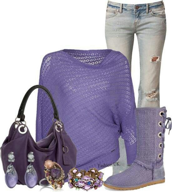 Comfy and purple